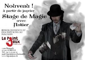 Affiche-Stage de Magie-Le Point Jeux