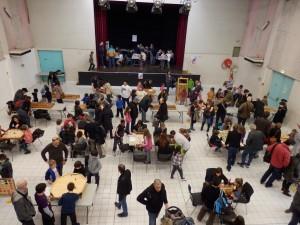 Prestation jeux en bois géants - festival des jeux de viviers