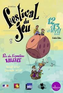 Affiche du festival des jeux de société de Valence - 2014