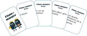 carte réponse blanc manger coco